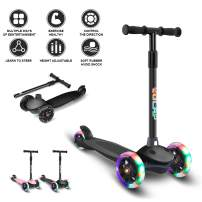 Scooter for Kids Toddlers Scooters 3 Wheels Kick Scooter Lean to Steer with PU Flashing Wheels Scooters for Boys Girls Children from 2 to 5 Year Old