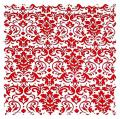 SheetWorld Red Damask Fabric - By The Yard