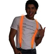 Light up Suspenders USB Rechargeable Led Suspenders Neon Suspenders LED Suspenders for Men & Women
