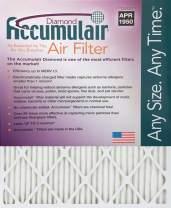 Accumulair FD12X12 Diamond 12x12x1 (11.5 x 11.5) MERV 13 Air Furnace Filters (2 Pack)