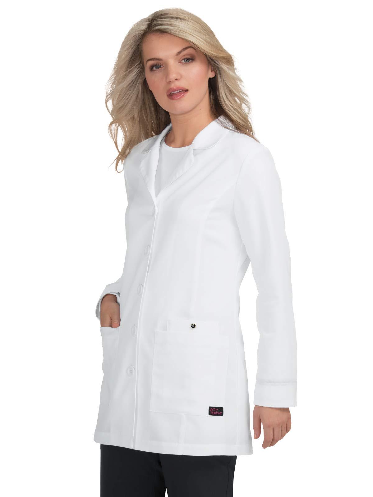 """KOI Betsey Johnson 3-Pocket 32"""" Margiold Lab Coat"""