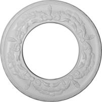 """Ekena Millwork CM13SA Salem Ceiling Medallion, 13 1/4""""OD x 7 1/8""""ID x 7/8""""P (Fits Canopies up to 7 1/8""""), Factory Primed"""