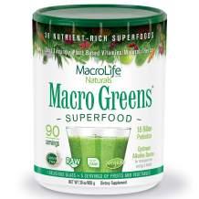 MacroLife Naturals Macro Greens Superfood – Organic - Vegan - Non-GMO - 38 Nutrient-Rich Ingredients - 30z - 90 Servings