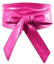 Nanxson Womens Bowknot Leather Wide Waist Band Self Tie Obi Cinch Belt PDW0009
