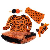Baby Girl Halloween Outfit Costume Tutu Romper Infant Pumpkin Costume