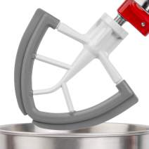 X Home 4.5/5 Quart Flex Edge Beater for Kitchenaid Tilt-Head Stand Mixer, Paddle with Silicon Scraper, Flat Beater Blade Replacement