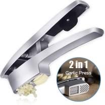 Lefinee 2 in 1 Garlic Press Crushing Machine And Garlic Slice Function Crush