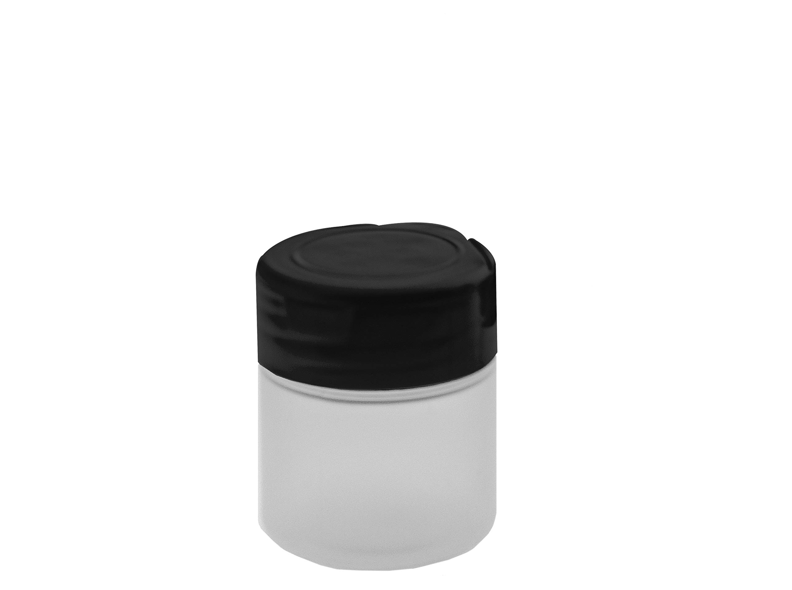Marketing Holders Small 2 oz Plastic Spice Seasoning Salt Shaker Empty Bottle Dry Herb Container Food Jar for Spices with Black Lid Qty 4