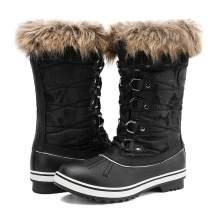 ALEADER Women's Mid-Calf Waterproof Winter Snow Boots