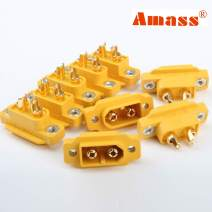 Amass 10 Pcs XT60E-M Mountable XT60 Male Plug Connector with Screw for RC Models Multicopter … …