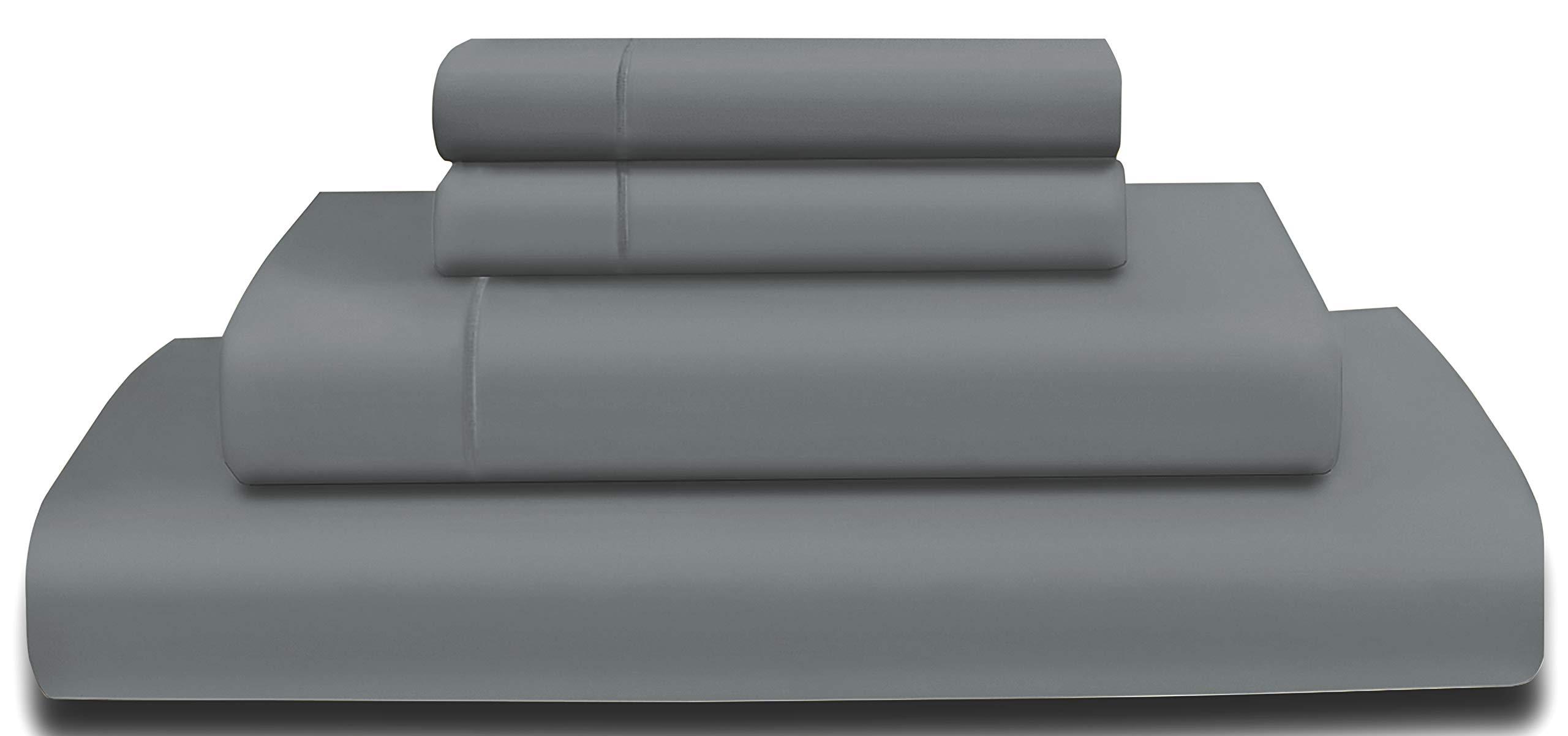 AURAA Comfort 600TC American Supima Long Staple  Cotton Sheet Set, California King,,  Charcoal