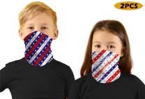 meakeize 2 PCS Kids Sibling Bandanas Face Mask UV Protectio Neck Gaiter Headband - Dust Block Balaclavas