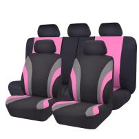 NEW ARRIVAL- CAR PASS Line Rider 11PCS Universal Fit Car Seat Cover -100% Breathable With 5mm Composite Sponge Inside,Airbag Compatible (Black And Rose Red)