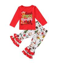 Toddler Baby Girl Pants Sets Cotton Letter Printed Long Sleeve Tops+Floral Pants 2Pcs Outfits