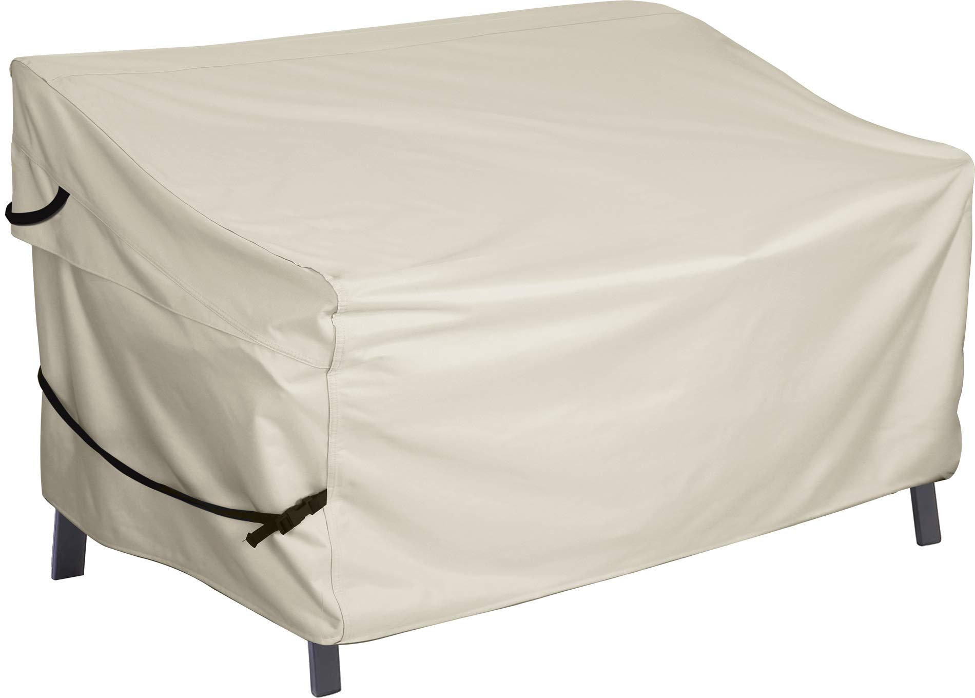Porch Shield Patio 3-Seater Loveseat Sofa Cover – Waterproof Outdoor Bench Deep Lounge Seat Sofa Covers 77W x 35D x 35H inch, Beige