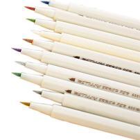 WINGOFFLY Set of 10 Assorted Colors Metallic Marker Pens for DIY Photo Album Card Making Scrapbooking