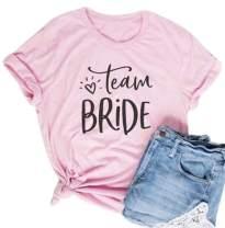 Team Brides T Shirt Bachelorette Party Pink Top Tees Women Funny Cute Bridal Shower Bride Squad Shirt Tops