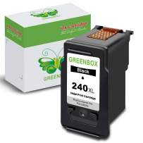 GREENBOX Re-Manufactured Canon 240XL Black Ink Cartridge Replacement for Canon PG-240XL 240 XL for Canon PIXMA MG3620 TS5120 MX532 MX472 MX452 MG3522 MG2120 MG3520 MG3220 (1 Black)