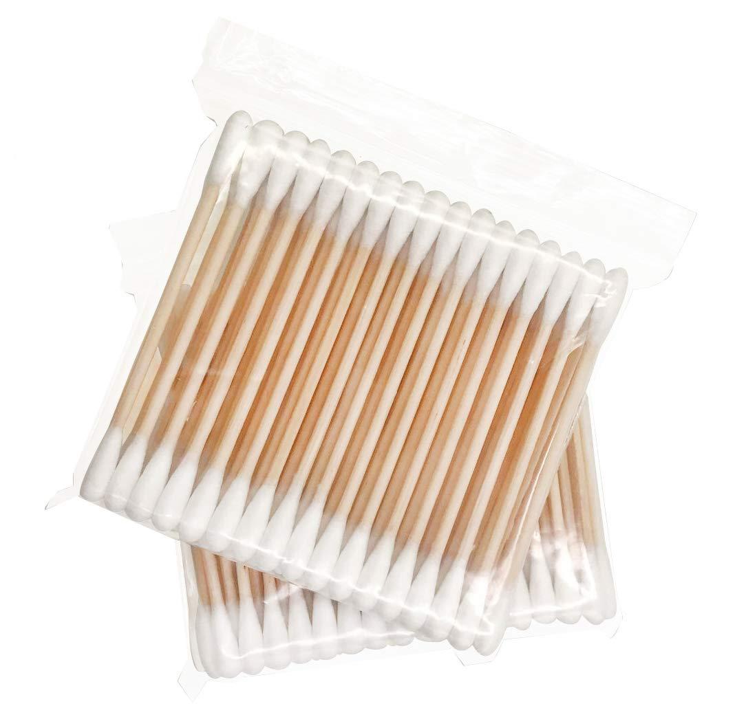 Wooden Cotton Swabs 400 pcs/Eco Friendly Biodegradable Cotton Bud/Organic Travel Cotton Buds - 8 Packs of 50pcs
