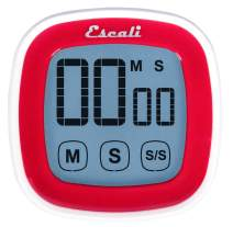 Escali DR3-R Touch Screen LCD Display Digital Timer, Red