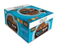 OLLY Protein Bar, 12g Plant Protein, Chocolate Coconut Chip, 1.6 oz Bars, Pack of 8, Packaging May Vary