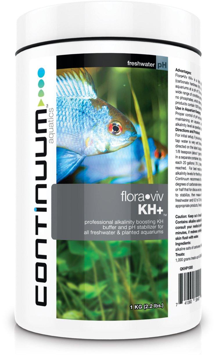 Continuum Aquatics Flora Viv KH+ - Alkalinity Booster & pH Stabilizer Powder for Freshwater Aquariums