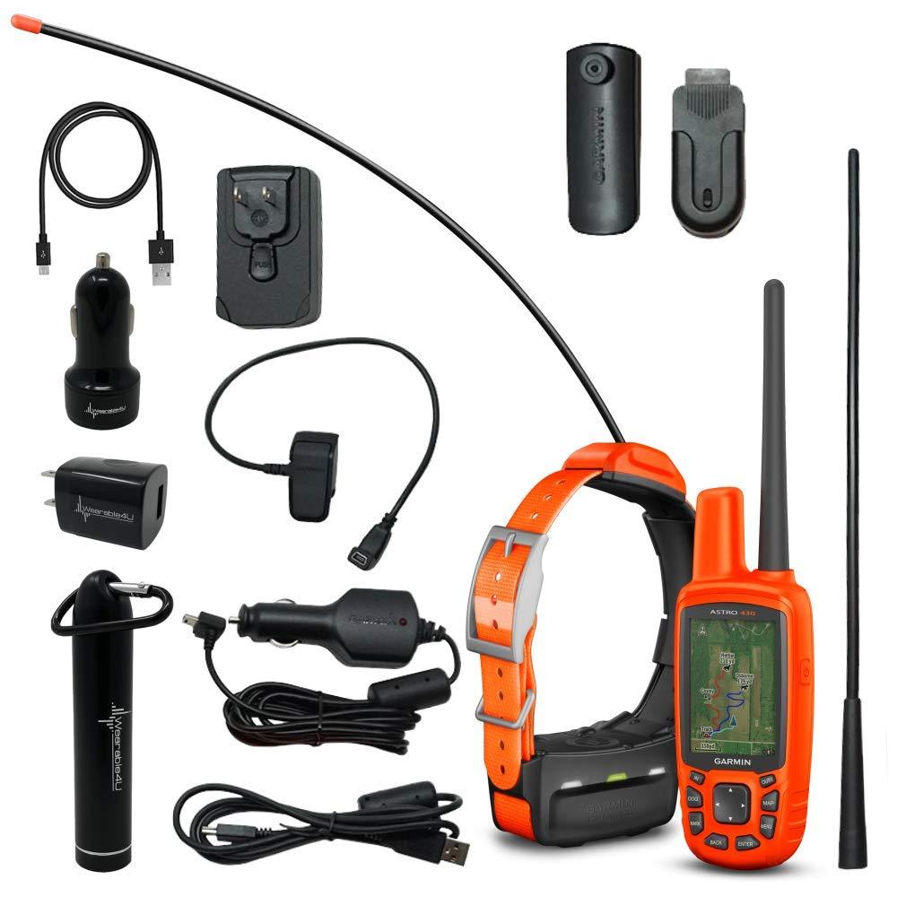 Garmin Astro 430/T5 GPS/GLONASS GPS Handheld Dog Tracking Bundle with Wearable4U Power Pack Bundle