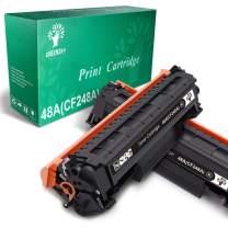 GREENSKY Compatible Toner Cartridge Replacement for HP 48A CF248A for HP Laserjet Pro M15w M15a M16a M16w MFP M29w MFP M29a MFP M28w MFP M28a Printer (Black, 2 Pack)