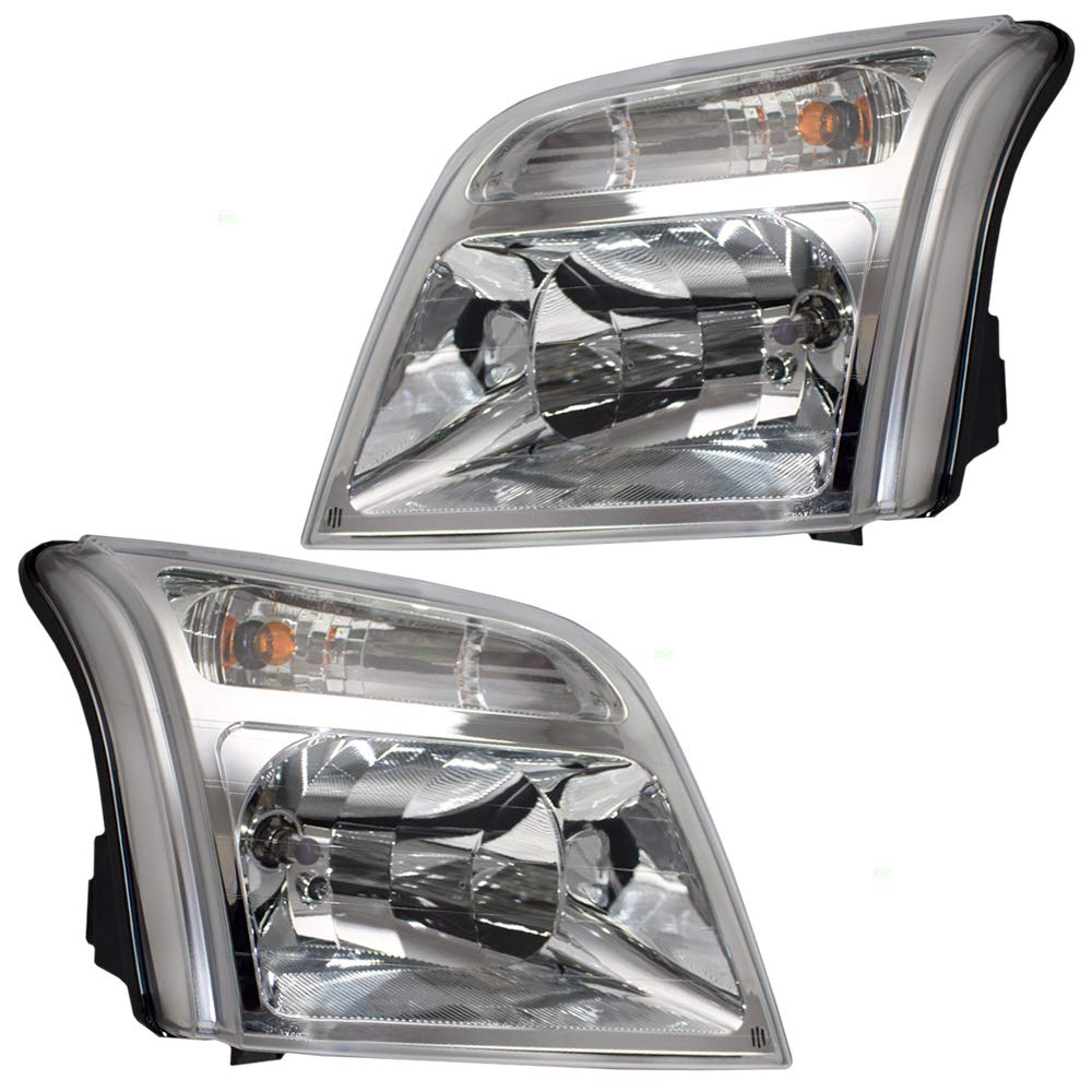 Driver and Passenger Headlights Headlamps Replacement for 2010-2013 Transit Connect Van 9T1Z13008C 9T1Z13008D