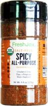 FreshJax Premium Gourmet Spices and Seasonings (Spicy All-Purpose: Organic Salt-Free Seasoning Blend)
