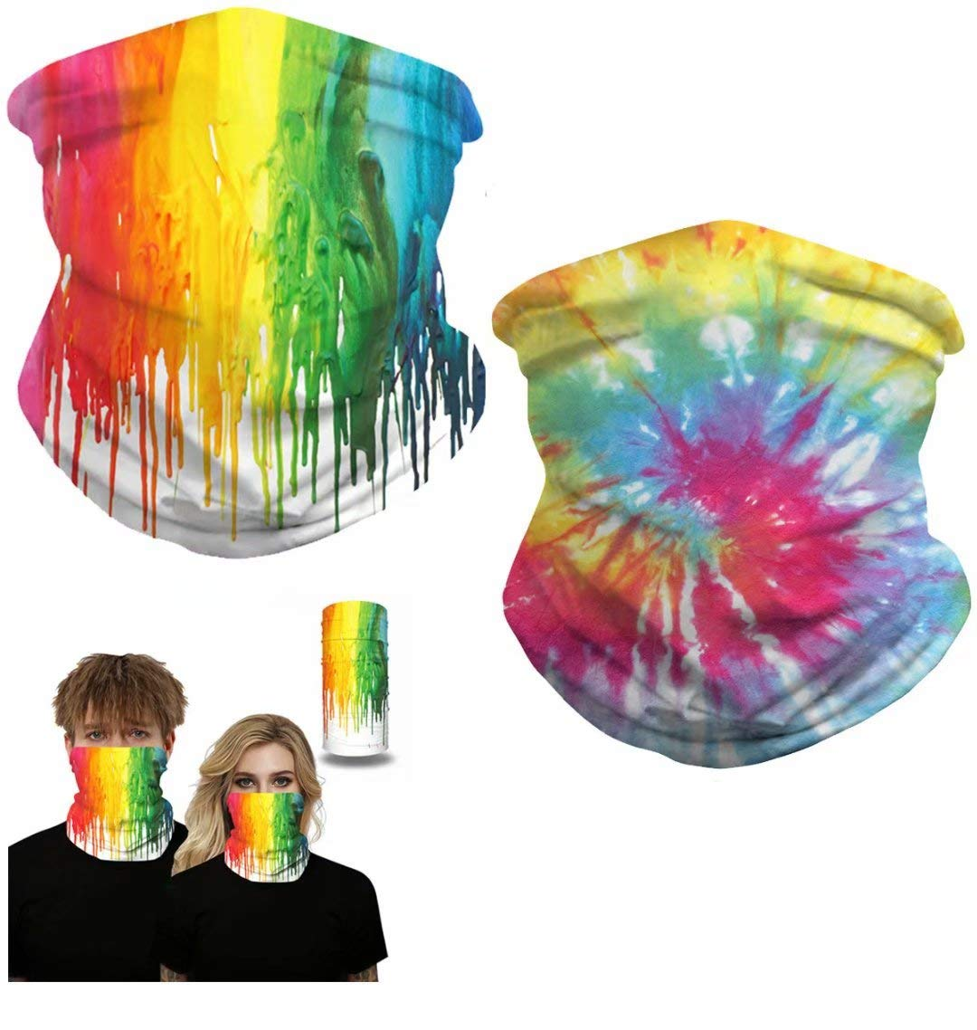 Seamless Rave Face Mask Bandana Magic Scarf Neck Gaiter Tube Headwear Windproof Face Cover Balaclava Head Wraps