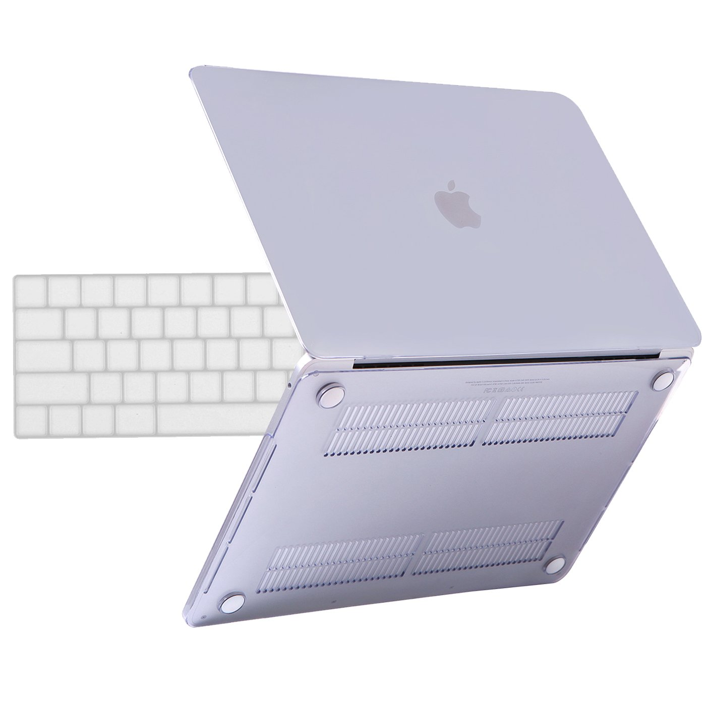 HDE MacBook Pro 13 Inch Case (2019 2018 2017 2016 Release) Rubberized Plastic Hard Shell Cover Keyboard Skin for Model A2159 A1989 A1706 A1708 Newest MacBook Pro 13 with or Without Touch Bar - Clear