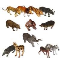 Vlish Safari Zoo Animal Figures – Set of 12   Jungle Mini Animals for Kids, Children, Toddlers   Educational Wild Animal Toys   Great Stocking Stuffer, Easter Basket Toys