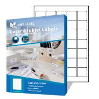"""Anylabel 1.5"""" x 1.5"""" Easy Peel Square Labels for Laser/Ink Jet Printer Permanent Adhesive (100 Sheets, 2400 Labels)"""