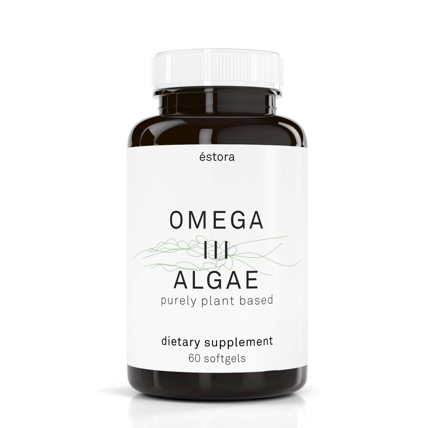 ESTORA Omega 3 DHA Algae Vegan Microalgae Algal Oil Supplement (60 Soft Gel Capsules)