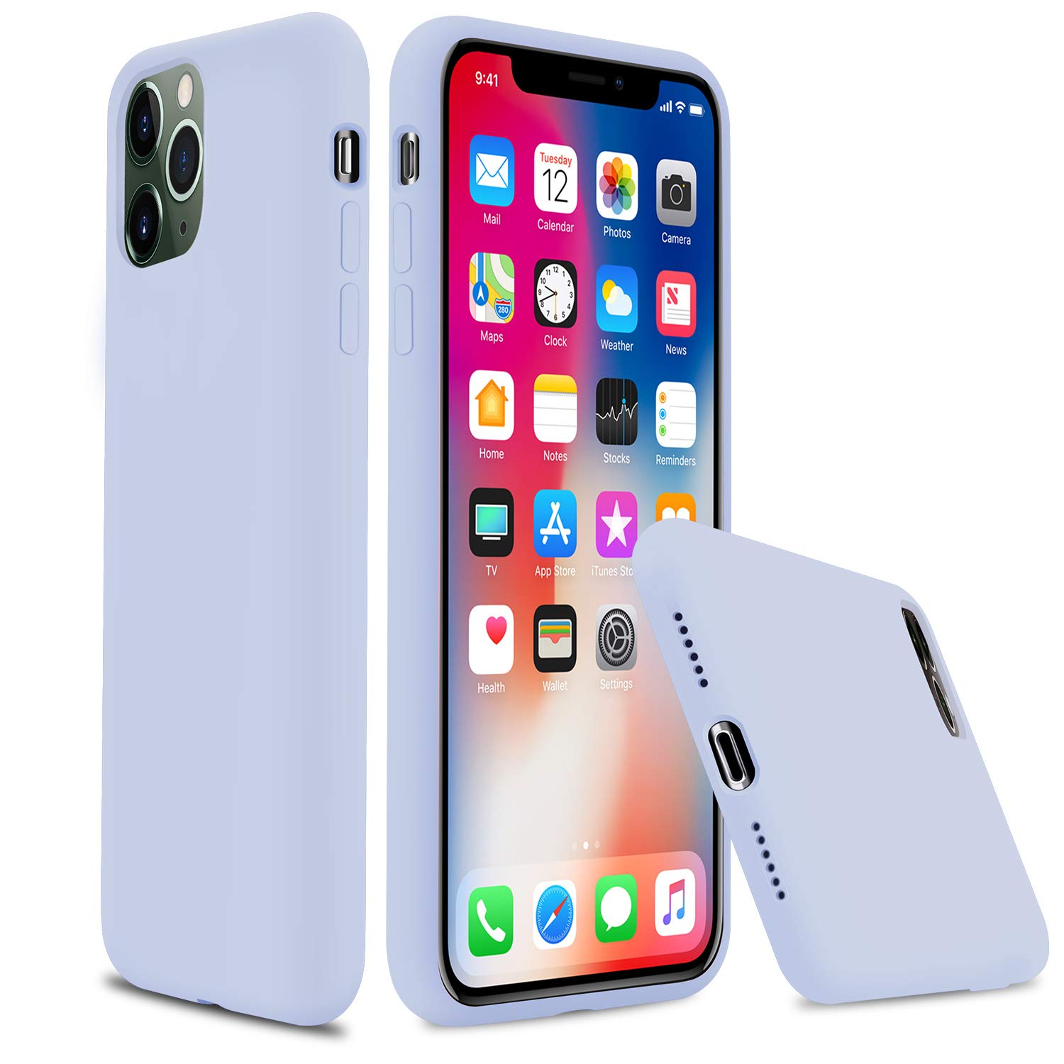 """Lopie iPhone 11 Silicone Case, [Silky Series] All-Around Protection iPhone 11 Case, Slim Gel Rubber Phone Cover for iPhone 11 2019 (6.1""""), Light Blue"""