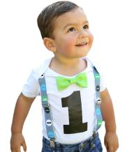 Noah's Boytique First Birthday Outfit Boy Little Man Mustache Bash Cake Smash