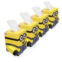 Smart Care Cube Facial Tissues | Ultra Soft 2-Ply (Minions) 4pk