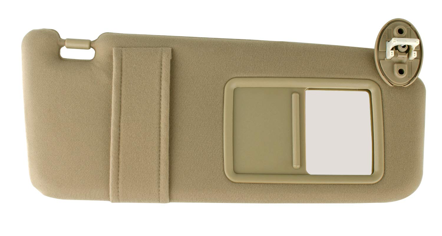 Xislet Passenger Side Sun Visor Replace for 2007-2017 Toyota Venza Sunvisor Sunroof Right Side with Vanity Light # 74310-0T022-A1 – Ivory/Beige/Tan