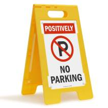 "SmartSign ""Positively No Parking"" Folding Floor Sign 