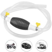 Maryya Gasoline Siphon Hose with 2 Clip,Transfer Oil/Water/Fuel Gas Siphon Pump, Widely Use Hand Syphon Pump with 2 Eco-Friendly Clear Hose