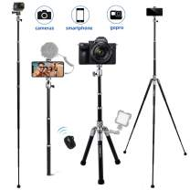 Camera Tripod, COMAN 3 in 1 Phone Tripod and Selfie Stick Tripod with Bluetooth Remote 57 inch for iPhone