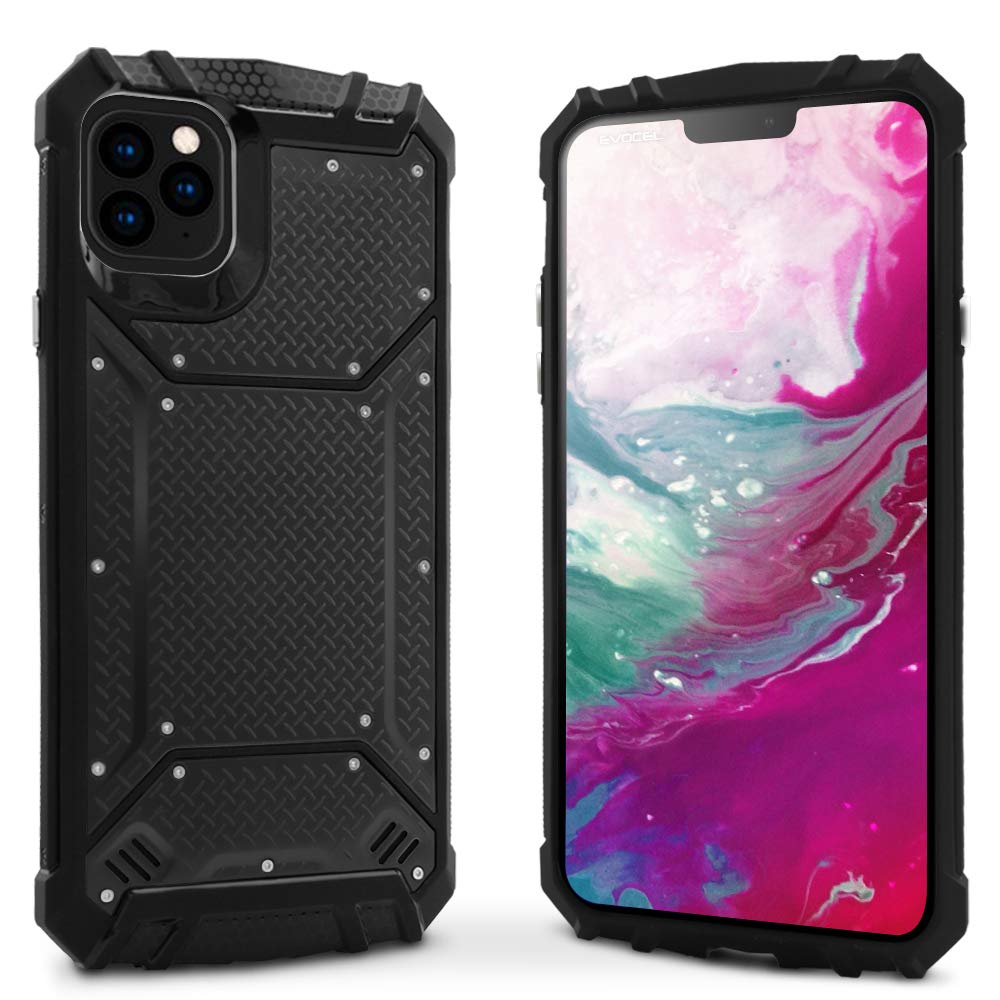 Evocel iPhone 11 Pro Max Case Magnext Series with Magnetic Metal Back Plate for iPhone 11 Pro Max 6.5 inch, Black