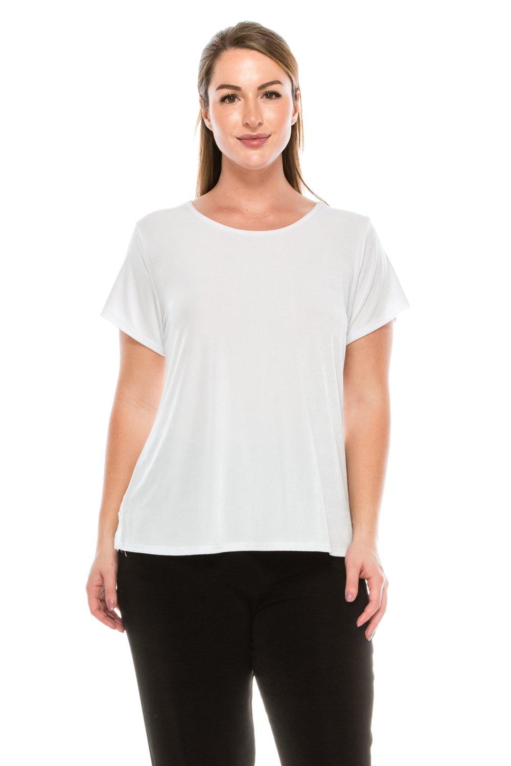 Jostar Women's Stretchy New Big Top Short Sleeve