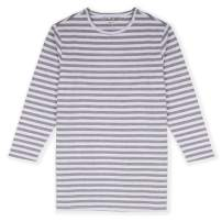 JIAHONG Girls Comfy Yarn Dyed Stripe and Solid Color Long Sleeves Nightgown 3-12 Years