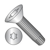 """18-8 Stainless Steel Thread Cutting Screw, Plain Finish, 82 Degree Flat Head, Star Drive, Type F, 5/16""""-18 Thread Size, 1"""" Length (Pack of 5)"""