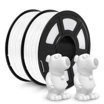 JAYO ABS Filament 1.75mm, 2kg Spool (4.4lbs) ABS 3D Printer Filament, Accuracy +/- 0.02 mm, No Tangle, No Clogging, Tougher Than PLA, Fit Most FDM Printers, ABS White+White