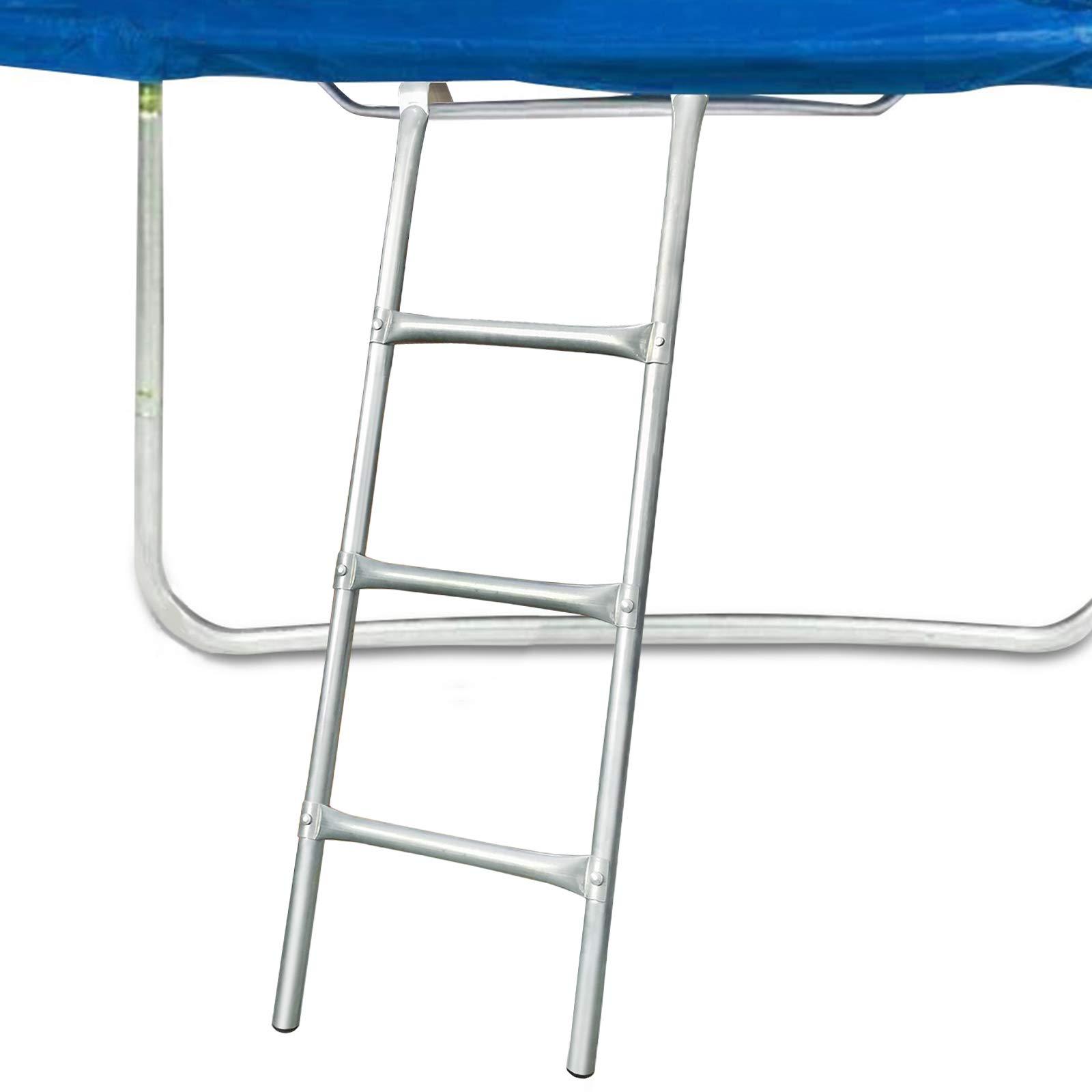 Cootway Trampoline Ladder, 3-Step Universal Trampoline Ladder Accessories for Children Kids, Easy to Install, Sturdy and Safe, Weather Resistant Galvanized Steel Ladder