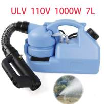 Jaina Electric ULV Cold Fogger Sprayer Machine with a Strap Intelligent ULV Ultra-Low Capacity Sprayer for Indoor/Outdoor Hygiene Hospitals Home Ultra Capacity Spray Machine 110V (7L)