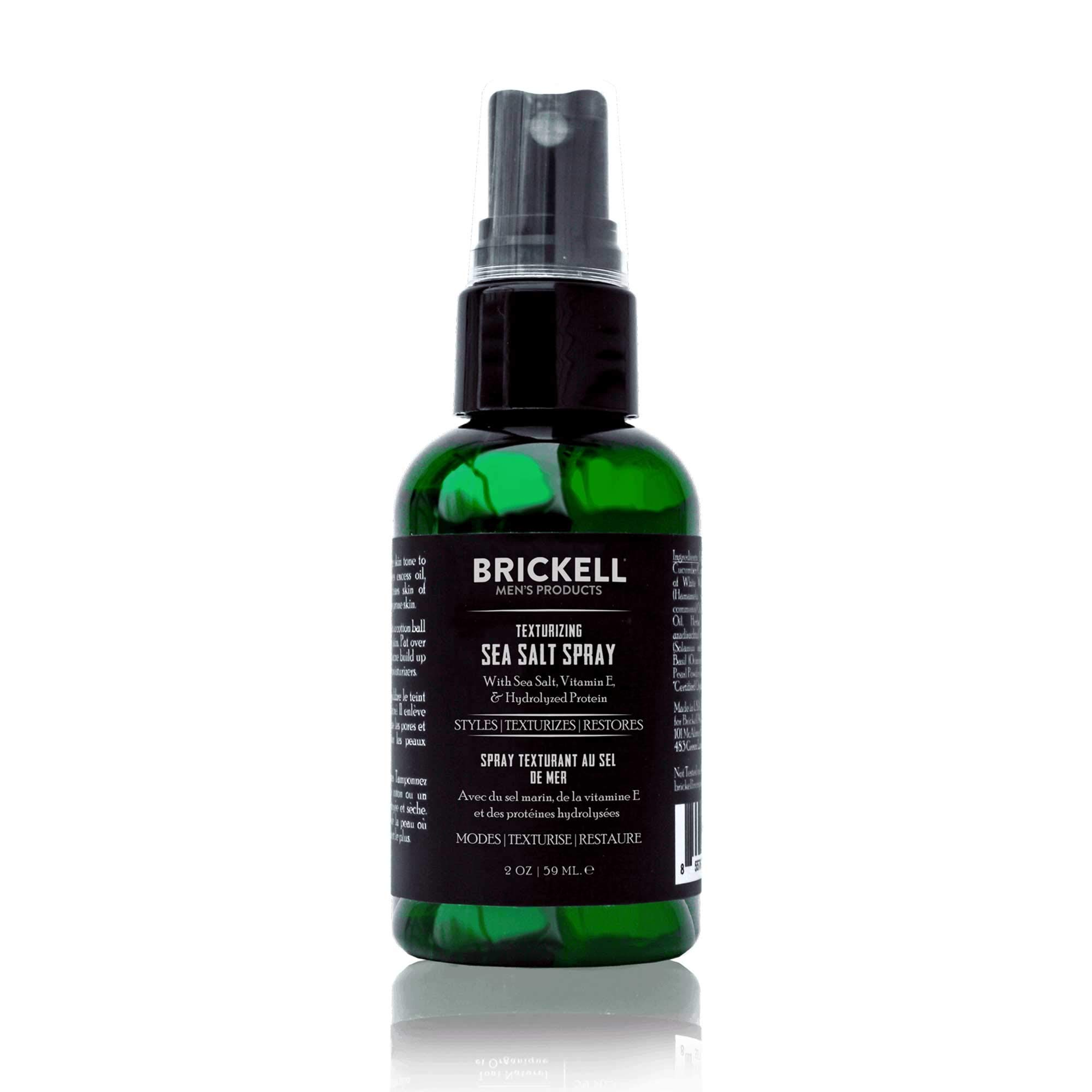 Brickell Men's Texturizing Sea Salt Spray for Men, Natural & Organic, Alcohol-Free, Lifts and Texturizes Hair for a Beach or Surfer Hair Style (2 Ounce)
